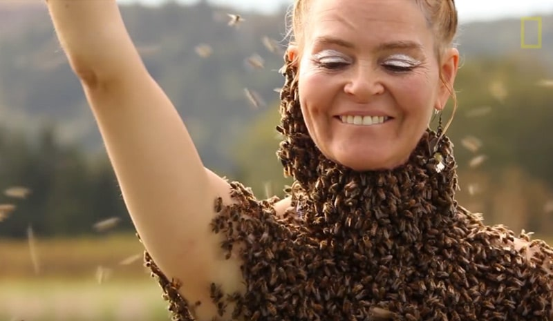 This Woman Dance with Over 10.000 Honey Bees on Her Body - inspiration