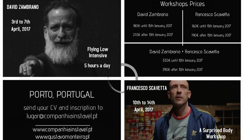 David Zambrano + Francesco Scavetta WORKSHOPS | April, 2017