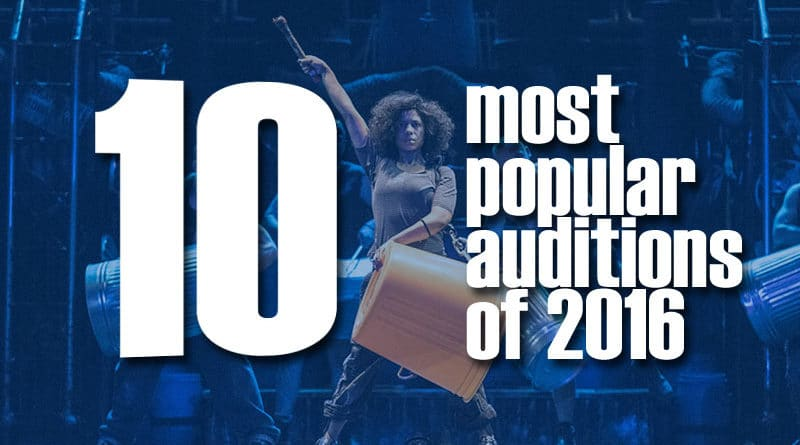 10 Most Popular Auditions of 2016