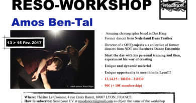 Reso-Workshop with Amos Ben-Tal former dancer of NDT