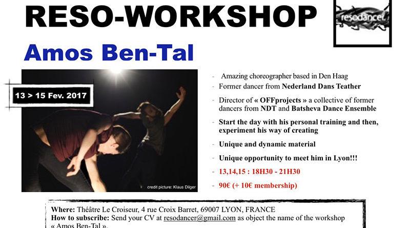 Reso-Workshop with Amos Ben-Tal former dancer of NDT