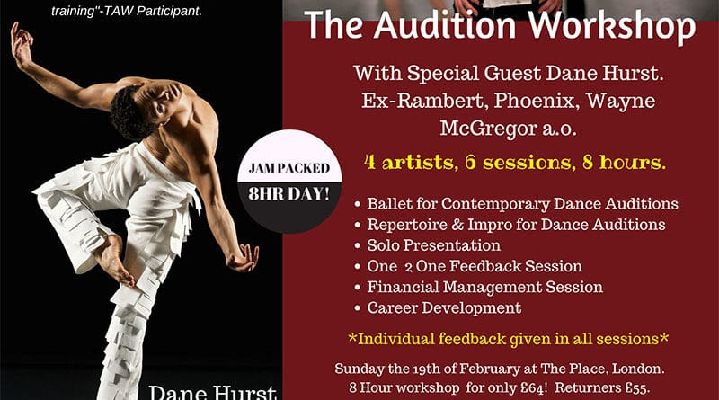 The Audition Workshop-London with Dane Hurst ex-Wayne McGregor, Rambert, Phoenix a.o.