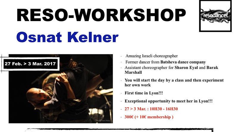 Reso-Workshop with Dancer and Choreographer Osnat Kelner