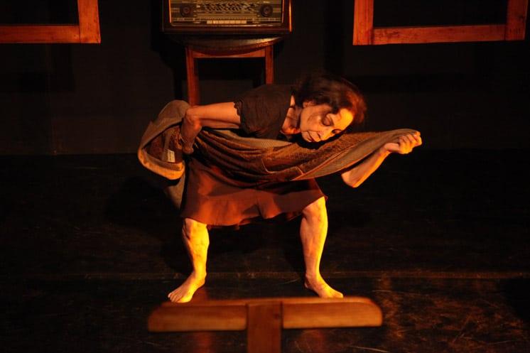 Photo: Sonia Sanoja in 'Amor Amargo' a choreography by Leyson Ponce Junio 2016 - Photo by Roland Streuli
