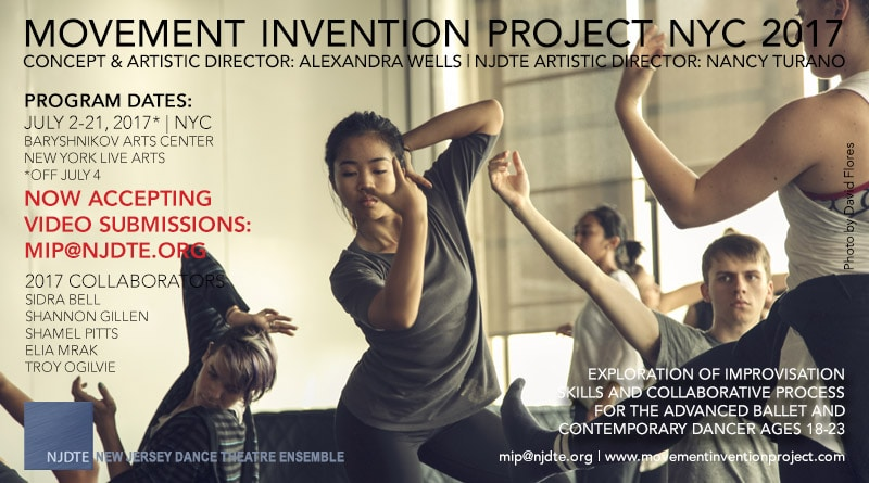 MOVEMENT INVENTION PROJECT 2017 NYC Summer Intensive Video Audition