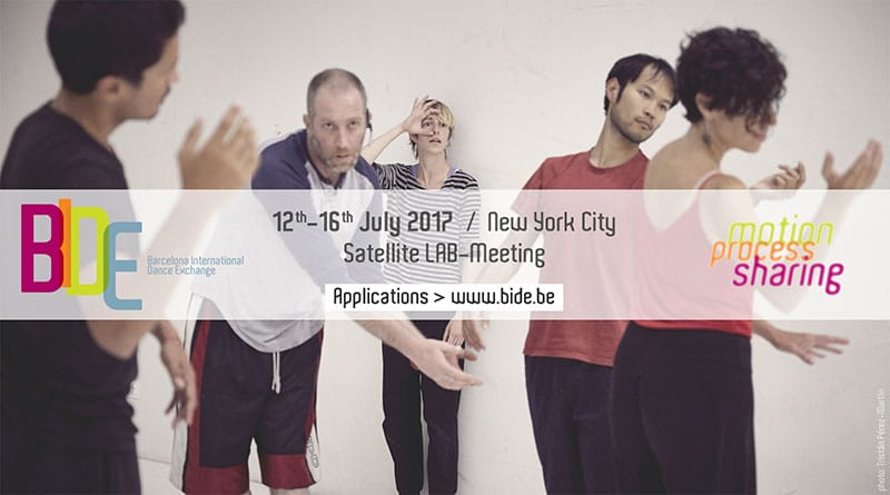 BIDE (Barcelona International Dance Exchange) SATELLITE lab-meeting / NEW YORK 2017