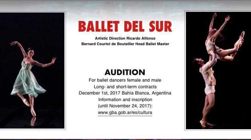 Ballet del Sur is Looking for Male and Female Dancers