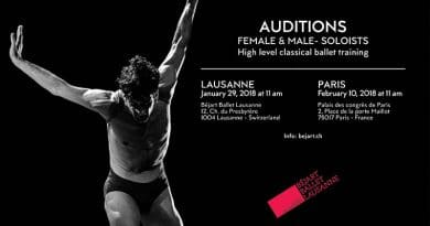 The Béjart Ballet Lausanne is Looking for Female and Male Soloists