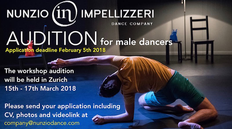 Nunzio Impellizzeri Dance Company is Looking for Male Dancers