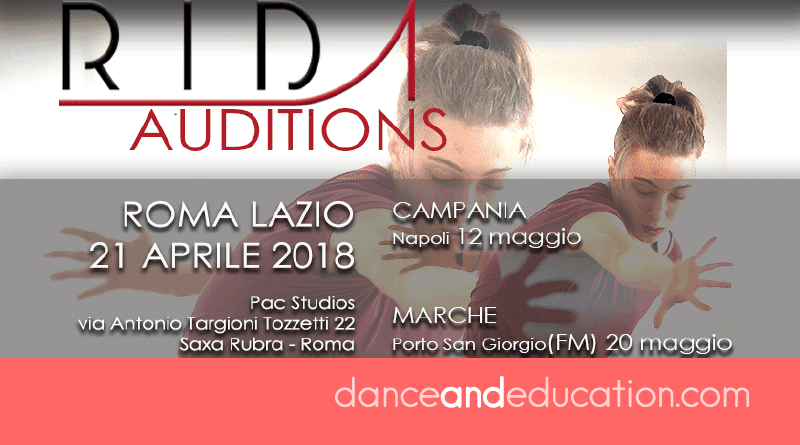 RIDA, Rome International Dance Academy, and Junior Company 2018 Auditions