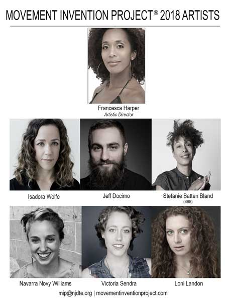 Movement Invention Project® 2018 Artists